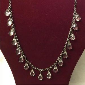 Silpada 💎 Rare N1661 Crystal Drop SS Necklace